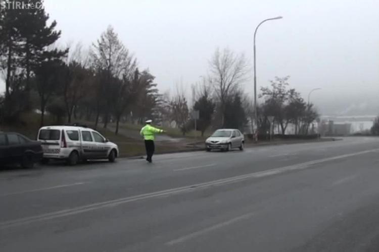 Razie în trafic la Cluj! S-au dat amenzi în valoare de 7.500 de lei - VIDEO