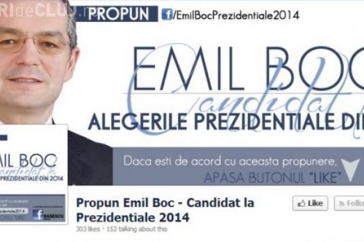 Emil Boc, candidat la prezidenţiale pe un cont de Facebook. Ce a spus Boc?