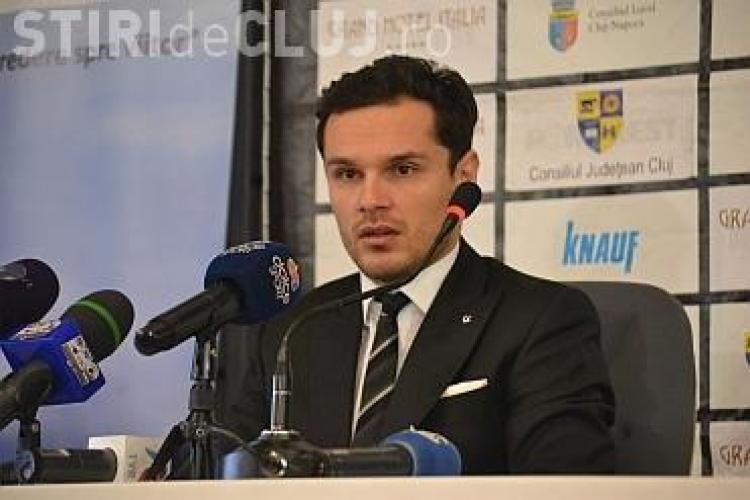 """Președintele """"U"""" Cluj reacționează la banner-ul jignitor la adresa lui Walter: """"Este socant!"""""""
