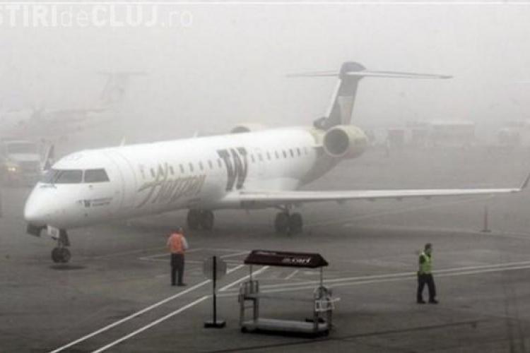 Mai multe zboruri au fost anulate de pe Aeroportul Cluj-Napoca din cauza ceții
