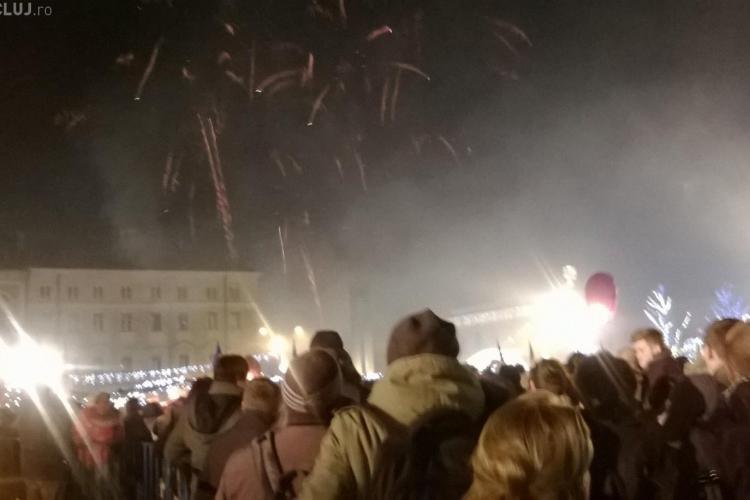 """Clujenii au cântat """"La mulţi ani!"""" cu Aurel Tămaş de Revelion VIDEO"""