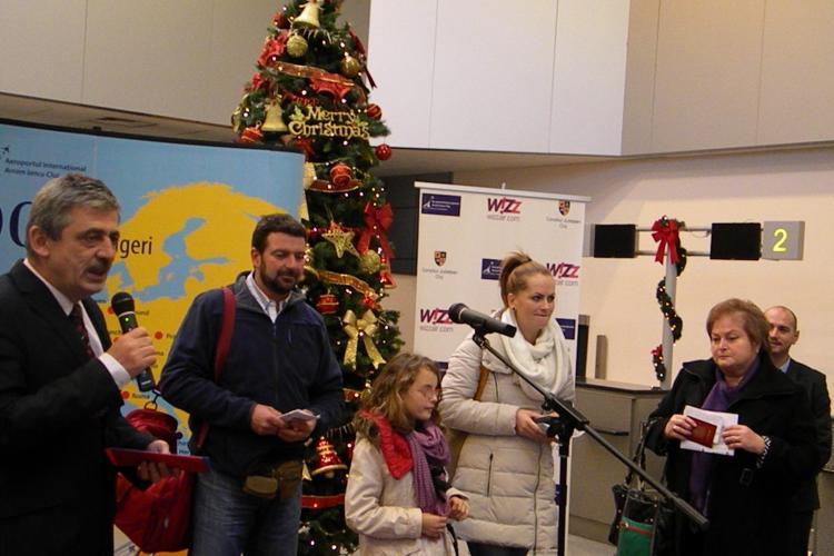 """Aeroportul """"Avram Iancu"""" din Cluj și-a premiat călătorul cu numărul 1.000.000. Vezi ce premii a câștigat FOTO"""