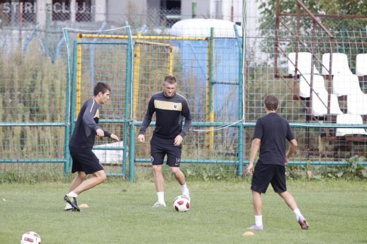Adrian Pit, fostul mijlocas de la AS Roma, a facut primul antrenament cu U Cluj