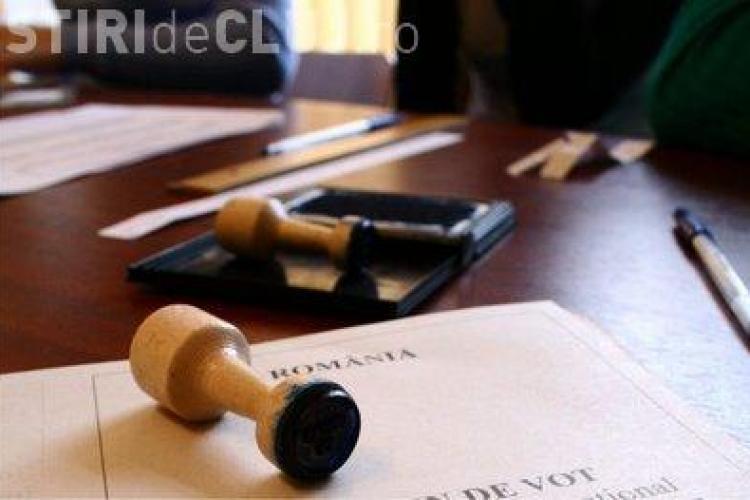 Sectie de vot amenajata in Cluj-Napoca pentru cetatenii Republicii Moldova
