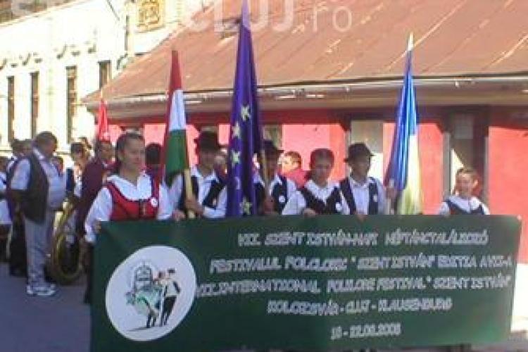 """Festivalul """"Szent Istvan"""" aduna la Cluj 16 ansambluri folclorice din toate colturile lumii"""