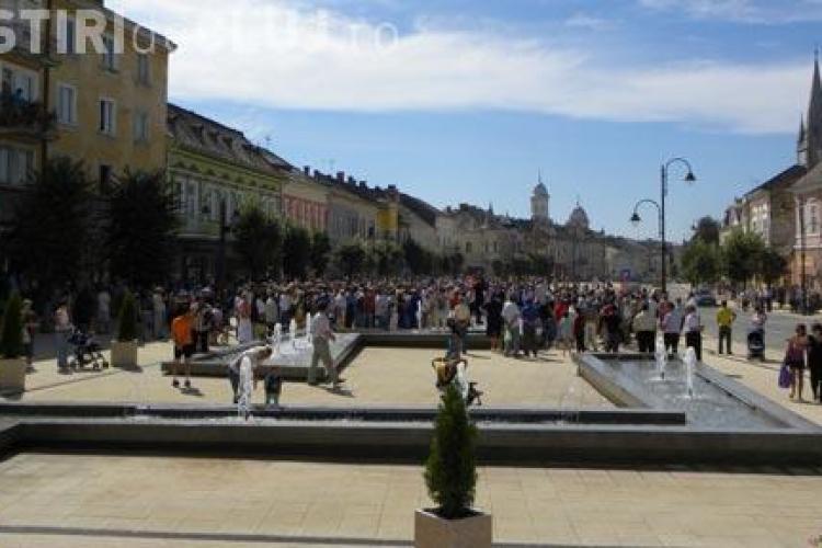 Centrul municipiului Turda a fost inaugurat astazi, o data cu startul Zilelor orasului. Vezi programul concertelor AICI!