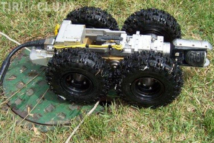Robot pentru curatarea canalizarilor, cumparat de Compania de Apa Somes Cluj - VEZi cum functioneaza un astfel de robot!