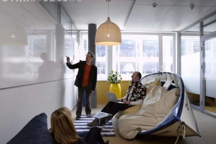 Vezi cum arata birourile Facebook si Google - Galerie FOTO