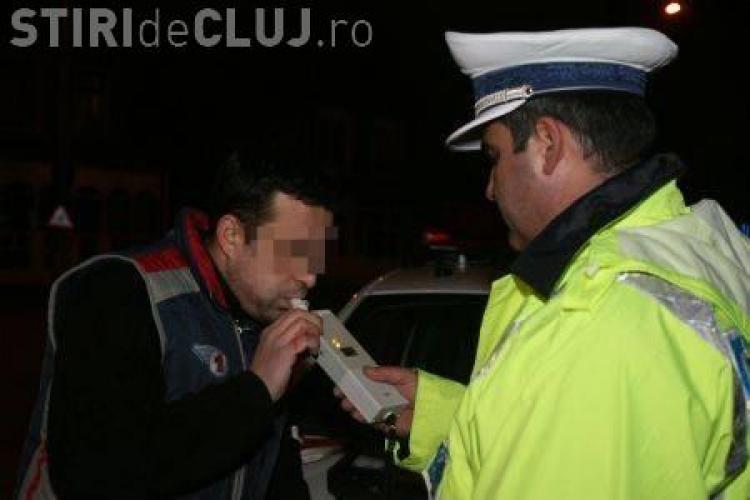 Sofer mort de beat! Un barbat a fost prins in Dej cu o alcoolemie 5 la mie in sange