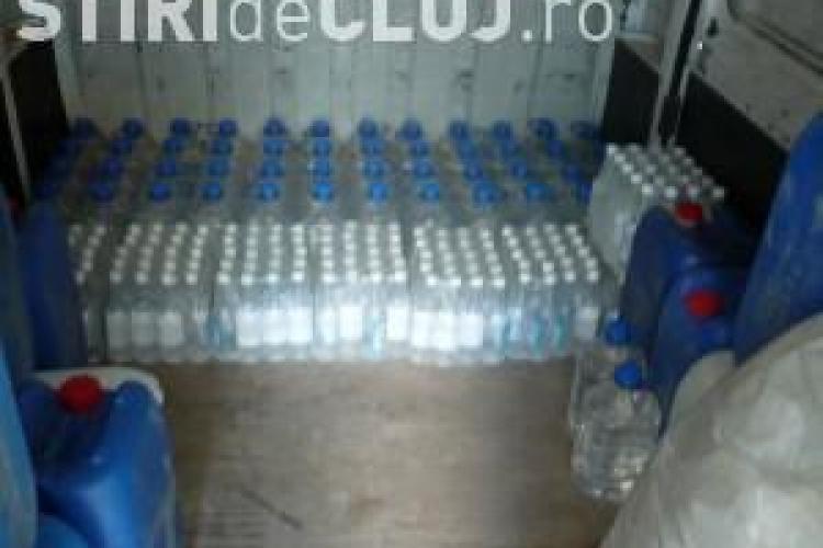 1.800 de litri de alcool, confiscati la Caseiu. Marfa valora 28.000 de lei
