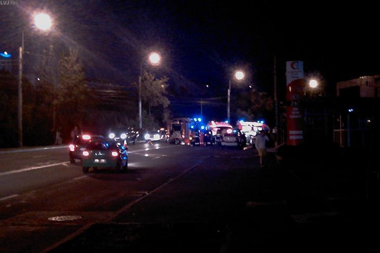Accident pe varianta Zorilor - Manastur, strada Frunzisului! Sase persoane, printre care doi rugbisti de la U Cluj, au fost ranite grav - VIDEO