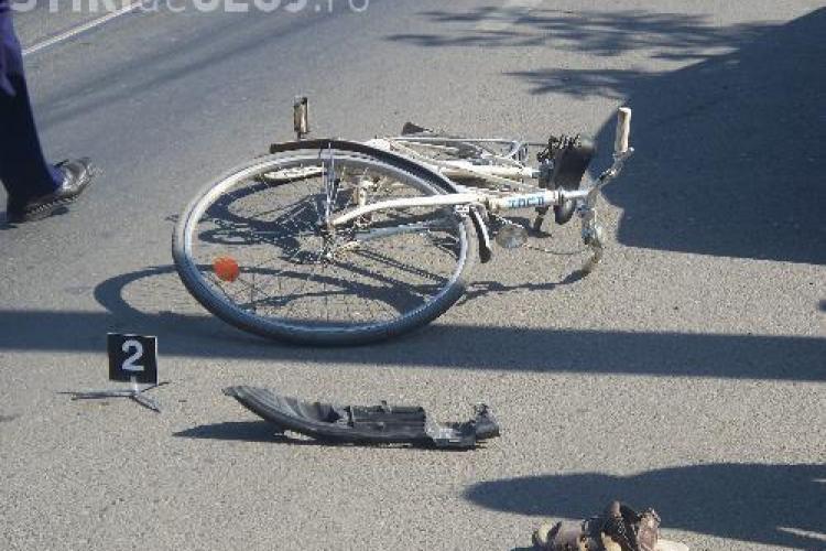 Biciclist ranit pe strada Sigismund Toduta