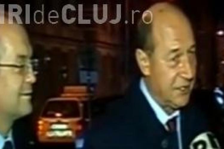 Băsescu a ajuns la Cluj! Sâmbătă seara a avut o întrevedere cu Emil Boc - VIDEO