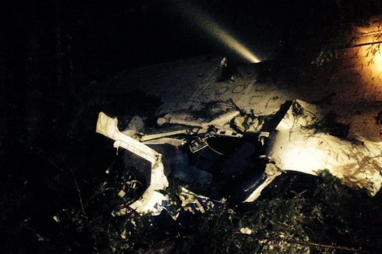 Vezi cum arată avionul prăbușit în Munții Apuseni FOTO EPAVĂ