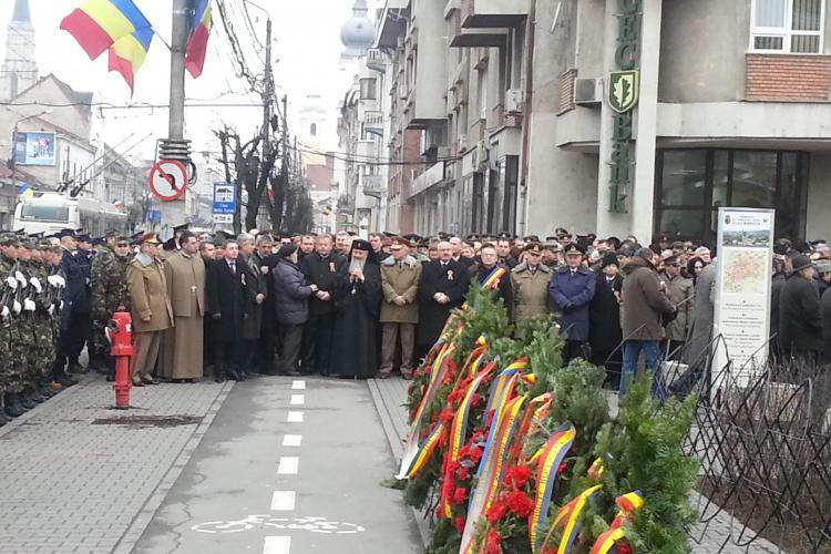 Cluj: Moment de reculegere la ceremonia dedicată Unirii Principatelor. Nu s-a mai jucat nici Hora Unirii