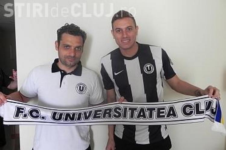 """""""U"""" Cluj aduce un brazilian la echipă. Braga Menezes Rodrigo a semnat pe 6 luni"""