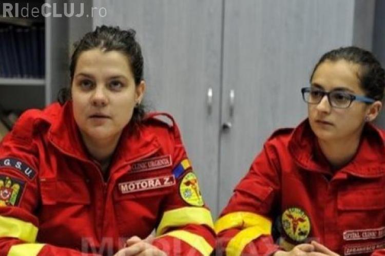 Primii medici care au ajuns la epava avionului, DOUĂ TINERE VOLUNTARE la SMURD CLUJ