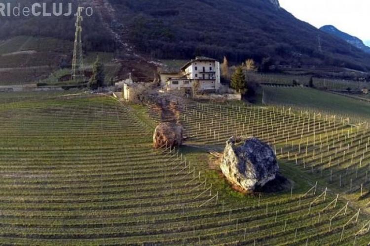 FENOMEN! Roci URIAȘE au distrus o fermă din Italia - FOTO