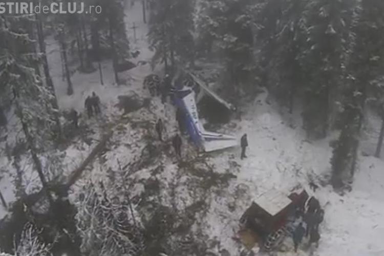 Imagini AERIENE din zona în care s-a prăbuşit AVIONUL în comuna Horea - VIDEO