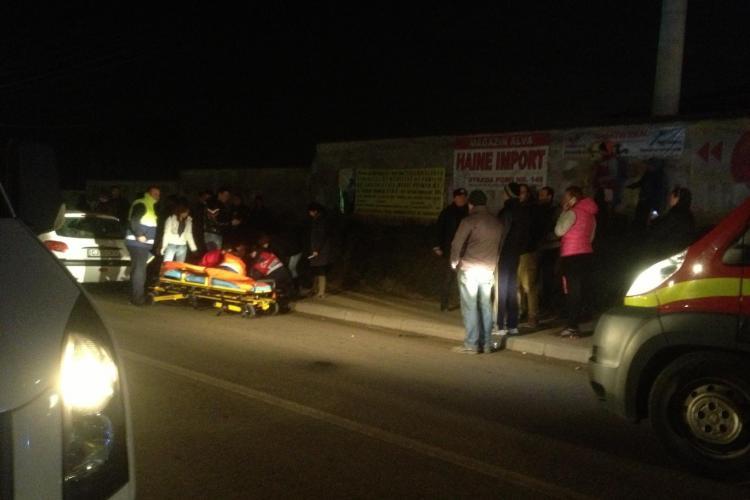Accident în Florești, pe strada Eroilor, la stația Fany! Femeie rănită GRAV pe o BEZNĂ totală - FOTO