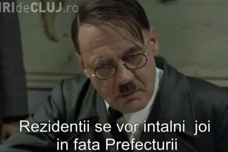 Medicii rezidenţi din Cluj ies în stradă! Hitler este furios de anunțul lor - VIDEO PARODIE