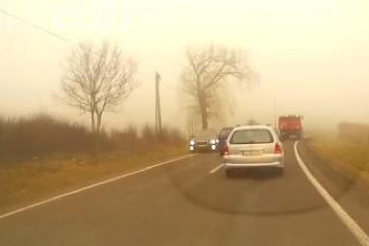 Un șofer clujean a PARALIZAT de frică în plină depășire! Ce s-a întâmplat mai departe - VIDEO