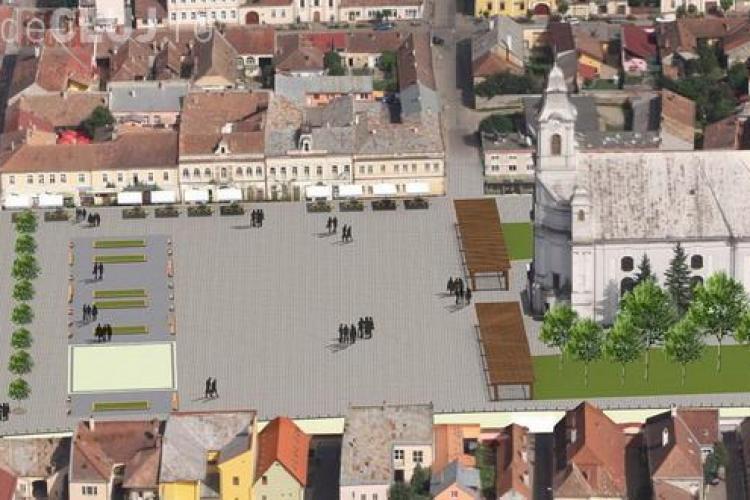 """Centrul istoric din Gherla va fi demolat și se va face o piață modernă: """"Centrul istoric e invechit!"""" - FOTO"""