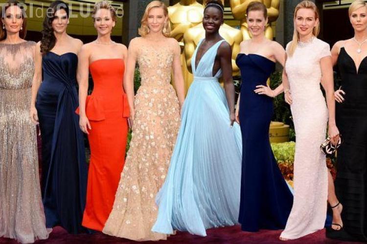 Cum s-au îmbrăcat starurile la premiile OSCAR 2014! Cate Blanchett, Charlize Theron, Amy Adams și Lupita Nyong'o au câștigat - FOTO