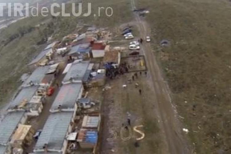 Colibele romilor de la Pata Rât, filmate cu o dronă de cei de la The Telegraph - VIDEO