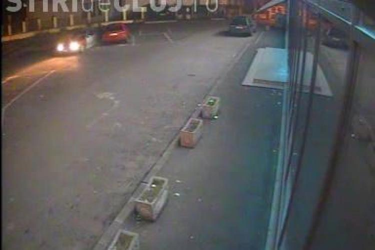 Și-a găsit mașina lovită de un BMW, în centrul Clujului. Autorul a FUGIT. RECUNOȘTI mașina? - VIDEO