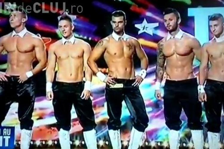 ROMÂNII AU TALENT - Dreamboys, trupă de stripperi care a dezamăgit crunt - VIDEO
