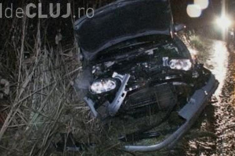 Un bărbat și-a făcut PRAF mașina din cauza condițiilor meteorologice VIDEO