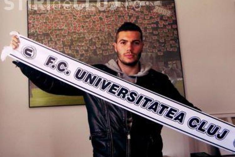 """""""U"""" Cluj a făcut un transfer de ultimă oră, înaintea derby-ului cu CFR. Florent Sauvadet a semnat cu """"Studenții"""""""