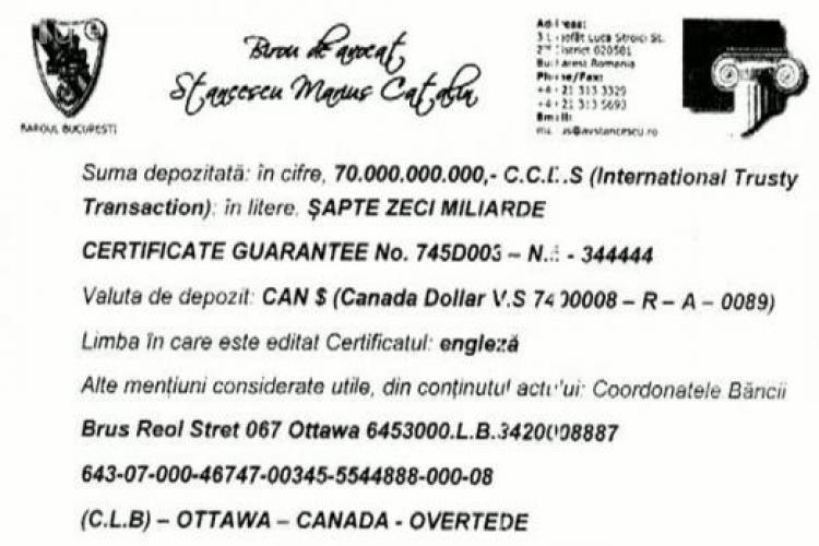 Ceaușescu ar avea 70 de miliarde de dolari ascunși în Canada - VEZI documentul