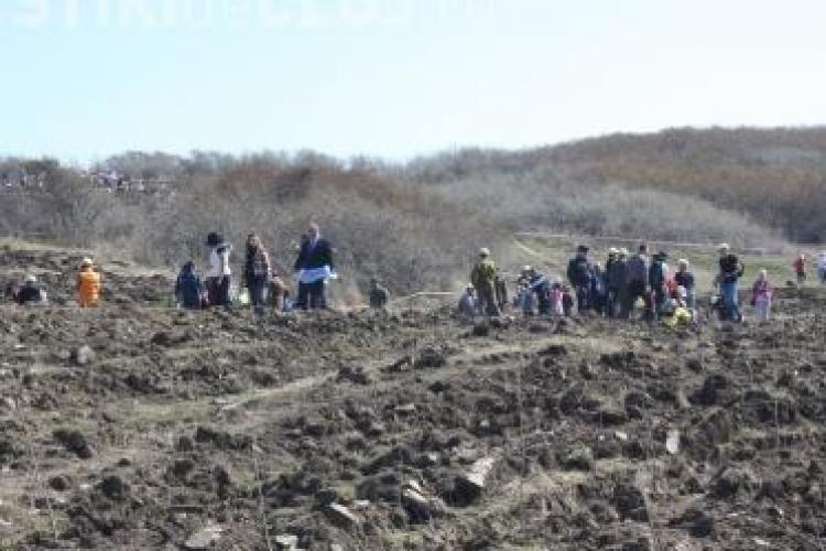1.500 de voluntari au împădurit 10 hectare de teren în Pădurea Transilvania - FOTO