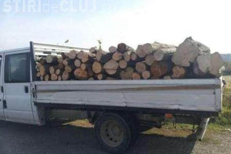 Clujeni prinși cu lemne furate în mașini
