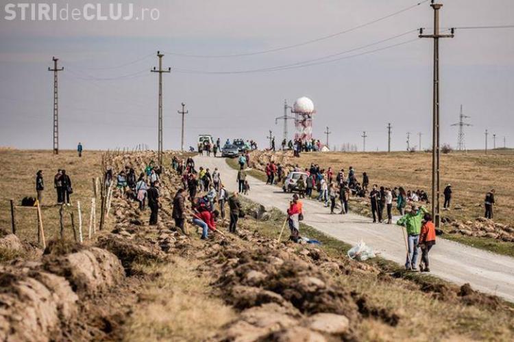Clujenii au ieșit la plantat arbori pe Dealul Feleacului FOTO