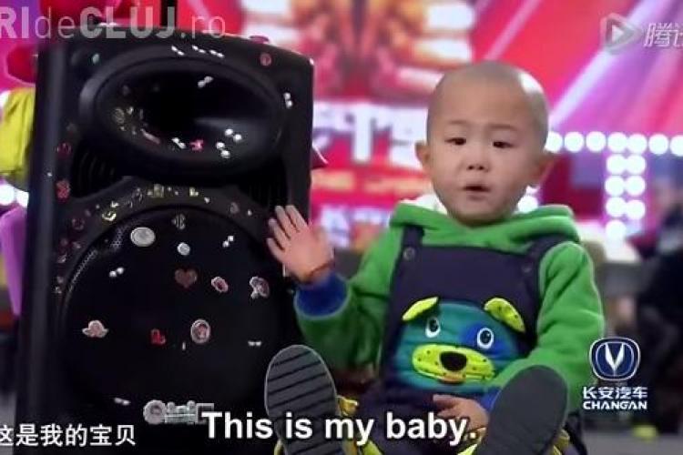 "Un băiat de 3 ani a făcut senzație la ""China are talent"" - VIDEO"