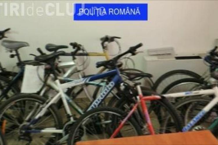 Hoț de biciclete prins la Cluj. Avea 14 biciclete furate în casă VIDEO