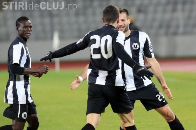 """O nouă victorie pentru """"U"""" Cluj. Echipa se îndepărtează încet de retrogradare"""