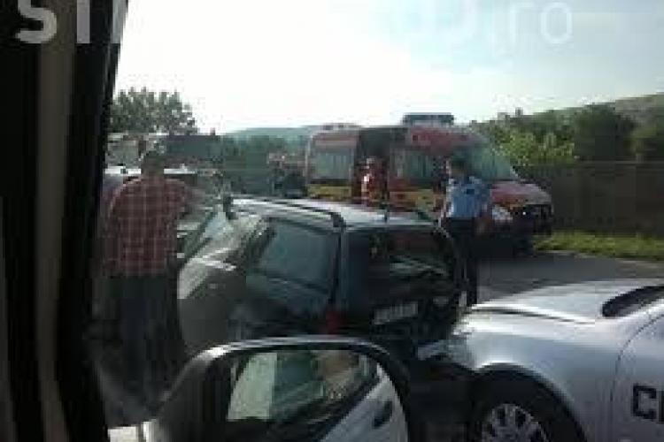 Accident cu trei mașini în Florești. Un italian de 75 de ani nu a frânat la trecerea de pietoni