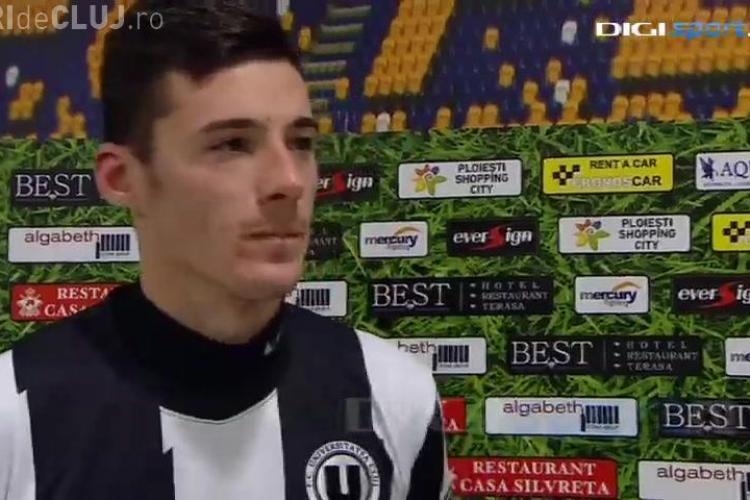 """Lemnaru, cel mai eficient jucător din Liga I. A adus singur 11 puncte pentru """"U"""" Cluj"""