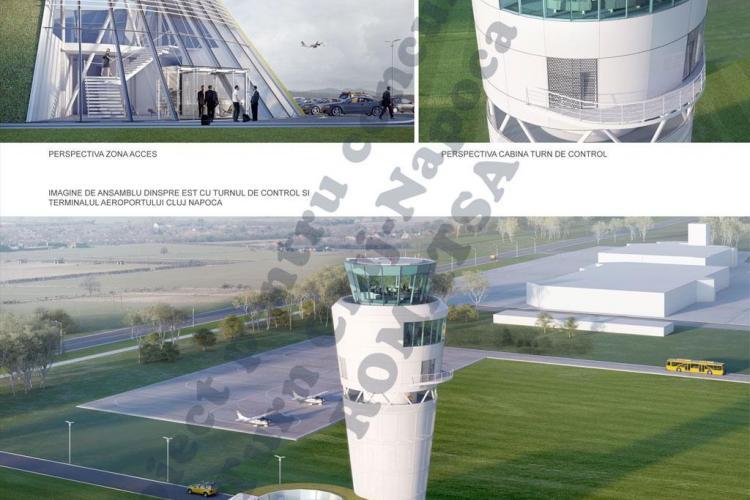 Turn de Control Nou pe Aeroportul Cluj. Cum arată proiectele FUTURISTE din concurs - FOTO