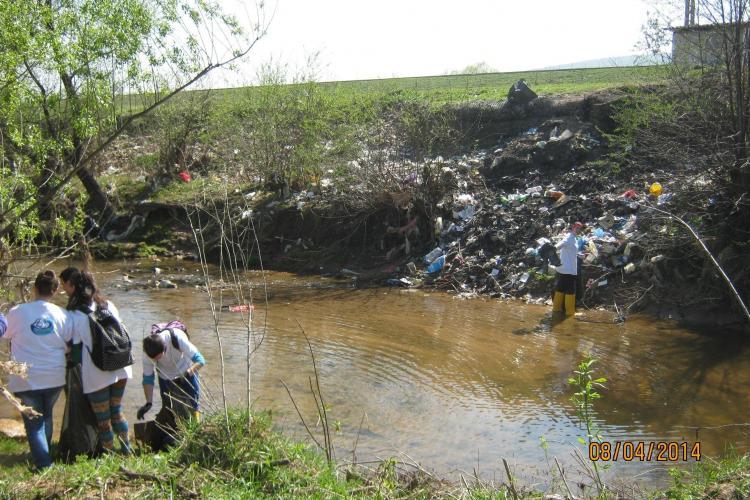 150 de saci cu deşeuri, adunați de pe Someșul Mic și Căpuș - FOTO