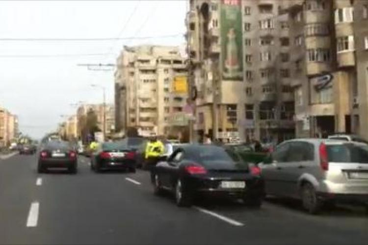 Smecheri cu mașini TARI, puși cu botul pe labe de poliție în Mărăști - VIDEO