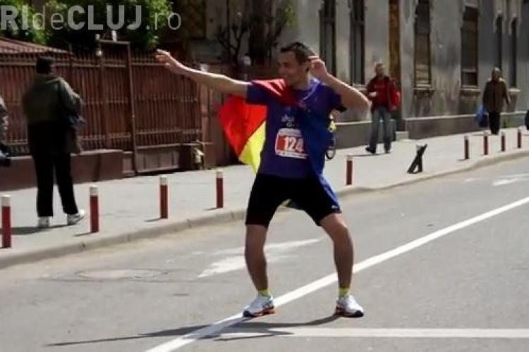 Cel mai simpatic sportiv de la Maratonul Internațional Cluj - VIDEO