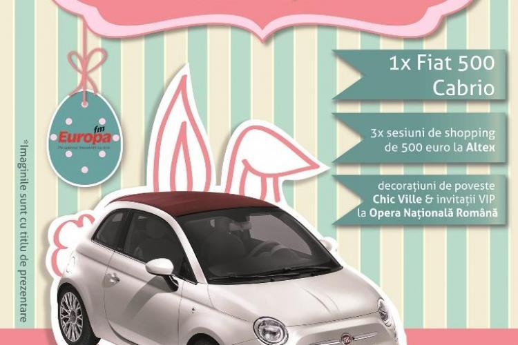 Cadou special de la iepurașul de Paște la Iulius Mall: Un Fiat 500 Cabrio (P)