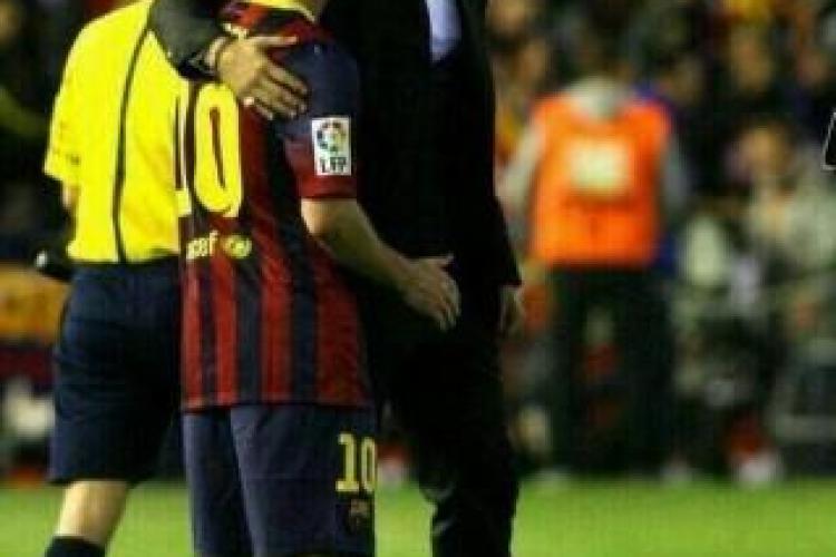 Imaginea cea mai frumoasă după finala Cupei Spaniei. Ronaldo îi dă curaj lui Messi  - FOTO