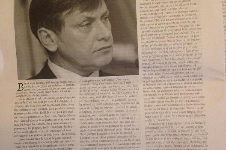 Tribuna, revista la care a scris Slavici, publică ode la adresa lui Crin Antonescu - FOTO