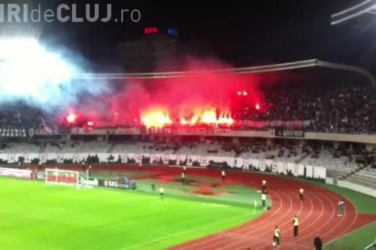 Suporterii U Cluj au impresionat și șocat cu un mesaj cu înjurături - VIDEO